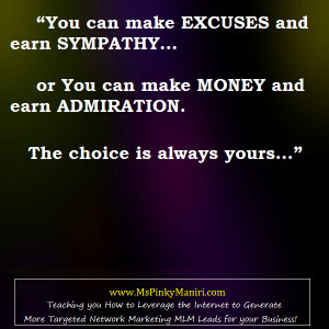 Network-Marketing-Quote-MLM-No-More-Excuses