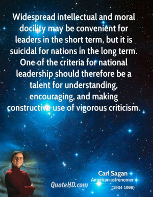 Widespread intellectual and moral docility may be convenient for ...