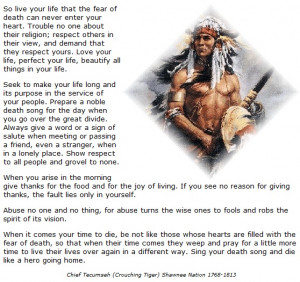 Chief Tecumseh Quotes http://www.pinterest.com/pin/289497082267980384/