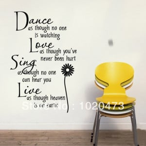 Free-Shipping-Flower-Dance-Love-English-Saying-Quote-Vinyl-Wall-Art ...