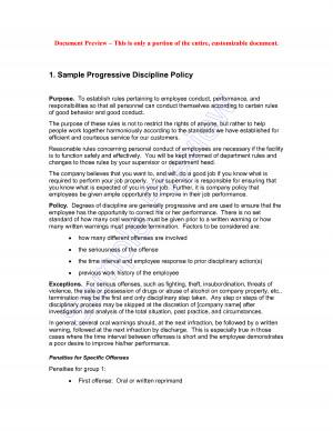 Progressive Discipline Policies picture