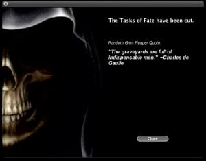 Reaper Quotes - fun with the random number genetrator...