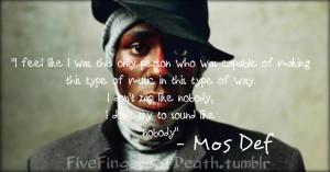 Mos Def Quotes