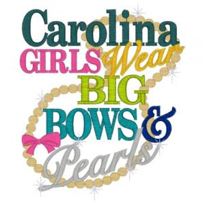 Sayings (3572) ...Carolina Girls 5x7