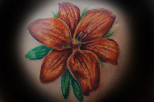 orange tiger lily tattoos