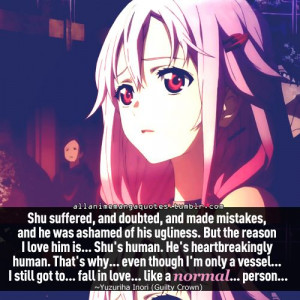 guilty crown inori anime quote