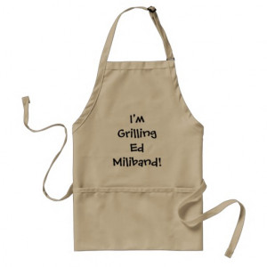 Grilling Ed Miliband Cruel Funny Joke and Quote Standard Apron