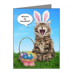 Where's My Chocolate? Sm. Easter Cards (10)