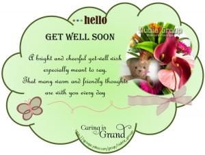 Hello Get Well Soon…