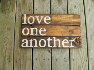 Rustic Wall decor, Reclaimed wood wall art love quote Wall stencil ...