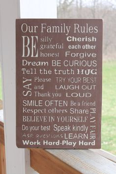 Family Rules Family Rules Sign Subway Sign by PreciousMiracles, $58.00