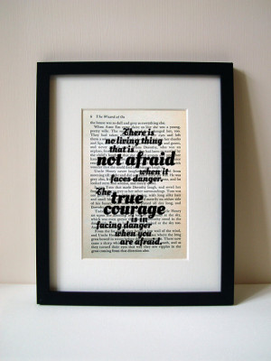 Wizard Of Oz - Book Quote Print - Inspirational Quote - Birthday Gift ...