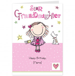 Granddaughter Quotes Granddaughter birthday card