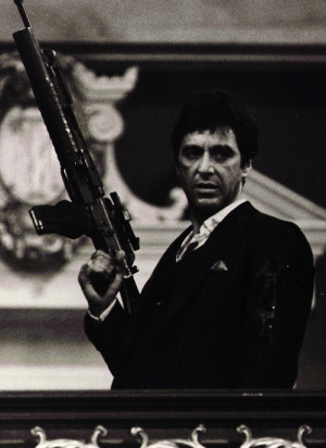 Black and White legend Scarface Al Pacino Tony Montana
