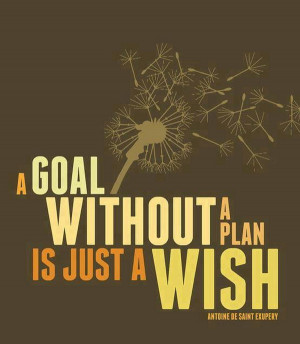 Goal Without Plan Just Wish