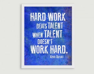 ... Kevin Durant Hard Work Beats Talent Inspirational Quote - OKC Thunder