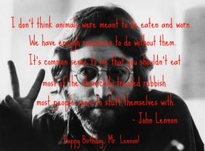 Tagged: vegetarian vegan quotes john lennon
