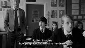 black and white, death, people, submarine, text, typography