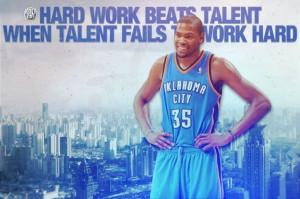 Hard work beats talent wen talent fails to work hard.