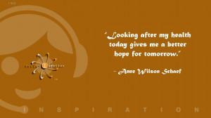 Inspiration Anne Wilson Schaef