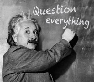 Einstein and questioning