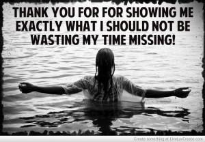 Sarcastic break up thank you