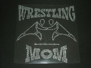 Details about Wrestling Mom Hot Fix Iron On Rhinestone Transfer Bling ...