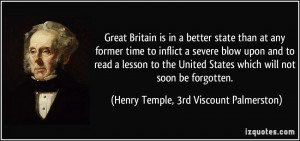 Great Britain is in a better state than at any former time to inflict ...