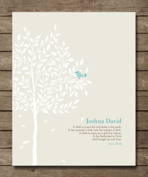 Personalized Christening Tree Gift, Bible Verse, Gift for Godchild ...