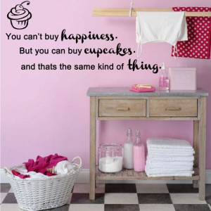 Cupcake quote wall art wa125 37cm x 80cm by leebolddesigns on Etsy, £ ...