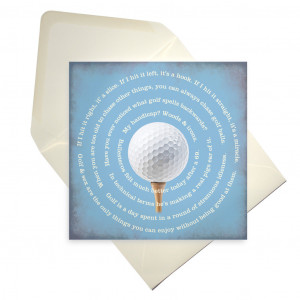 Golfing quotes and bloopers greetings card TVBOB
