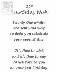 My 21 wishes on my 21st Birthday