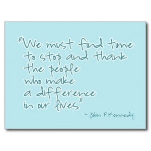 Thank You Inspirational Quote Postcard