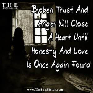 Trust Is A Mirror, OnceIt Breaks,Its Gone...However UTry To Put It ...