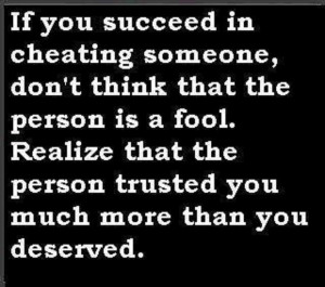 ... remember, there is no shame in trusting, only in betrayal of trust