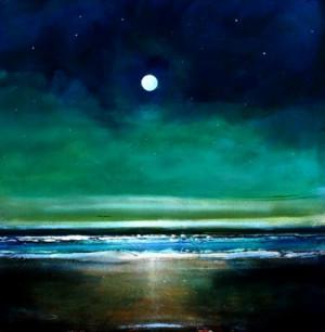 Nov 13 Minimalist Nighttime Inspirational Original Painting 10x10 ...