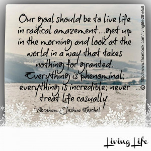OUR GOAL SHOULD BE TO LIVE LIFE IN RADICAL AMAZEMENT.. GET UP IN THE ...