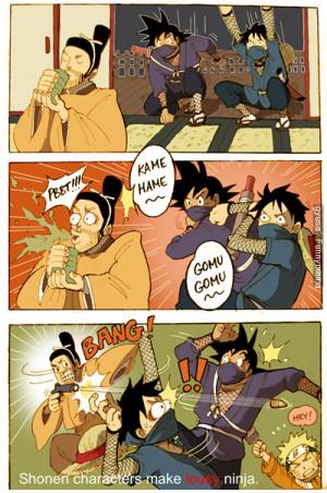 Son Guko | Monkey D. Luffy | Naruto | Funny | Comic | Anime
