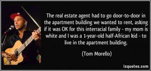 The real estate agent had to go door-to-door in the apartment building ...