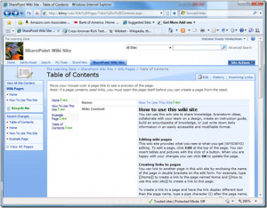 SharePoint 2010 Wiki Page Example