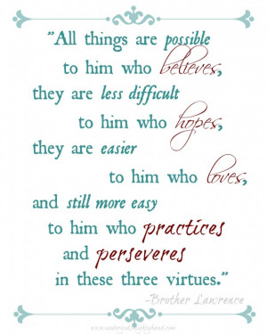 What Grace Brings - plus a free Brother Lawrence quote printable via ...