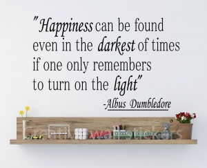 Details about ALBUS DUMBLEDORE QUOTES HAPPINESS WALL STICKER HARRY ...
