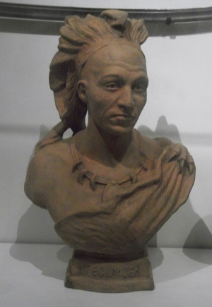 Original title: Description English: Bust of the Shawni chief Tecumseh ...