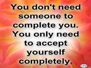 accept yourself completely