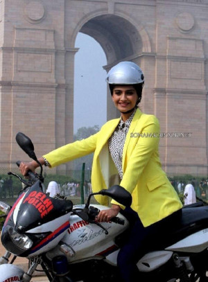 Sonam Kapoor in Helmet Safety Campaign