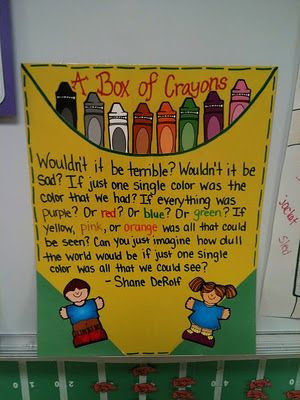 Box Of Crayons Back To School Poem