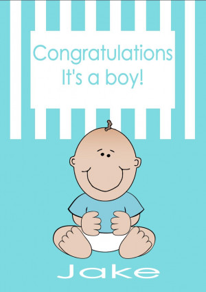 personalised new baby boy card design