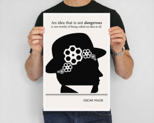 Art Print, Oscar Wilde Quote Illustration, Steampunk Poster, Art ...