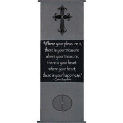 Cotton Cross Symbol St. Augustine Quote Scroll (Indonesia)