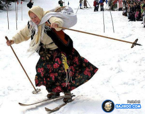 funny old lady skiing in russia funny women pics funny pictures funny ...